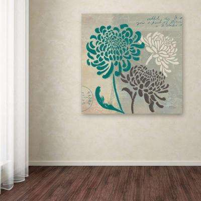 "35 in. x 35 in. ""Chrysanthemums I"" by Wellington Studio Printed Canvas Wall Art"