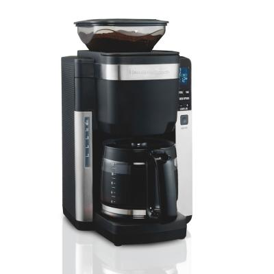 12-Cup Black Auto Grounds Dispensing Coffee Maker