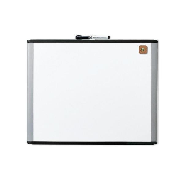 MOD Magnetic Dry Erase Board 20 in. x 16 in. Black and Gray Frame