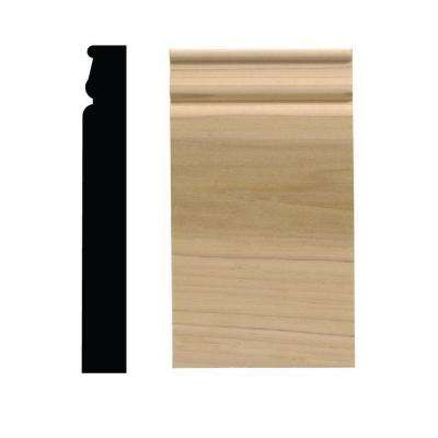 743PB 1-1/16 in. x 4-1/2 in. x 8 in. White Hardwood Plinth Block Moulding