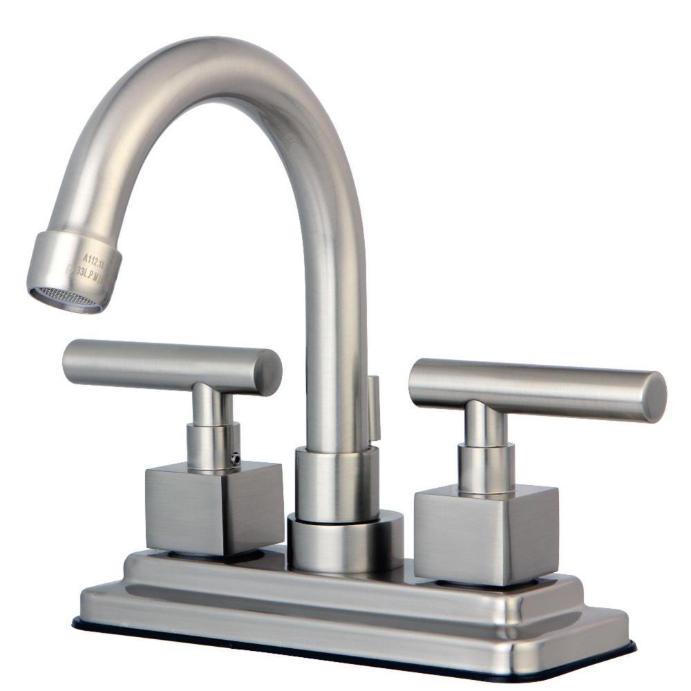 Claremont 4 in. Centerset 2-Handle Bathroom Faucet in Brushed Nickel
