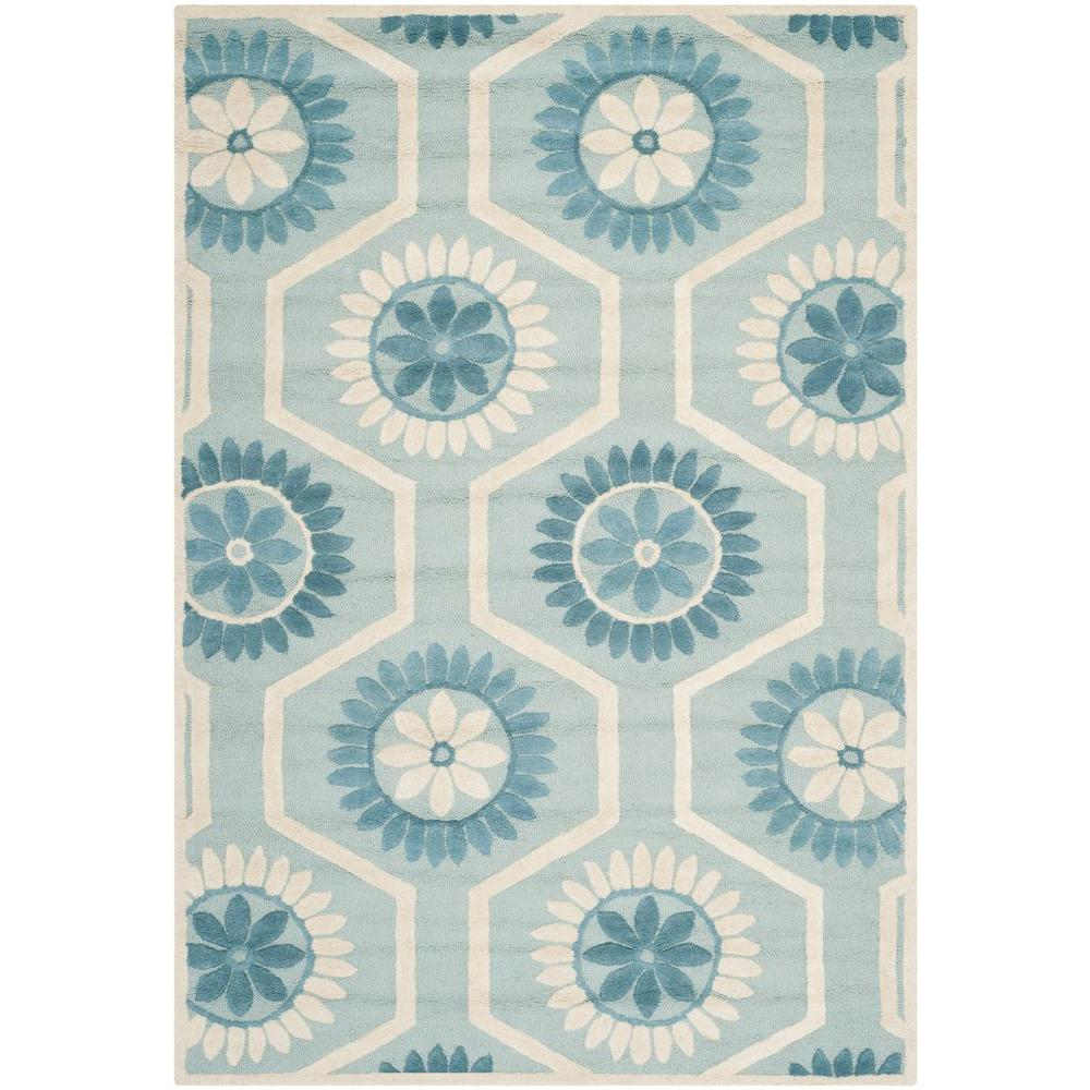 Cambridge Blue/Ivory 6 ft. x 9 ft. Area Rug
