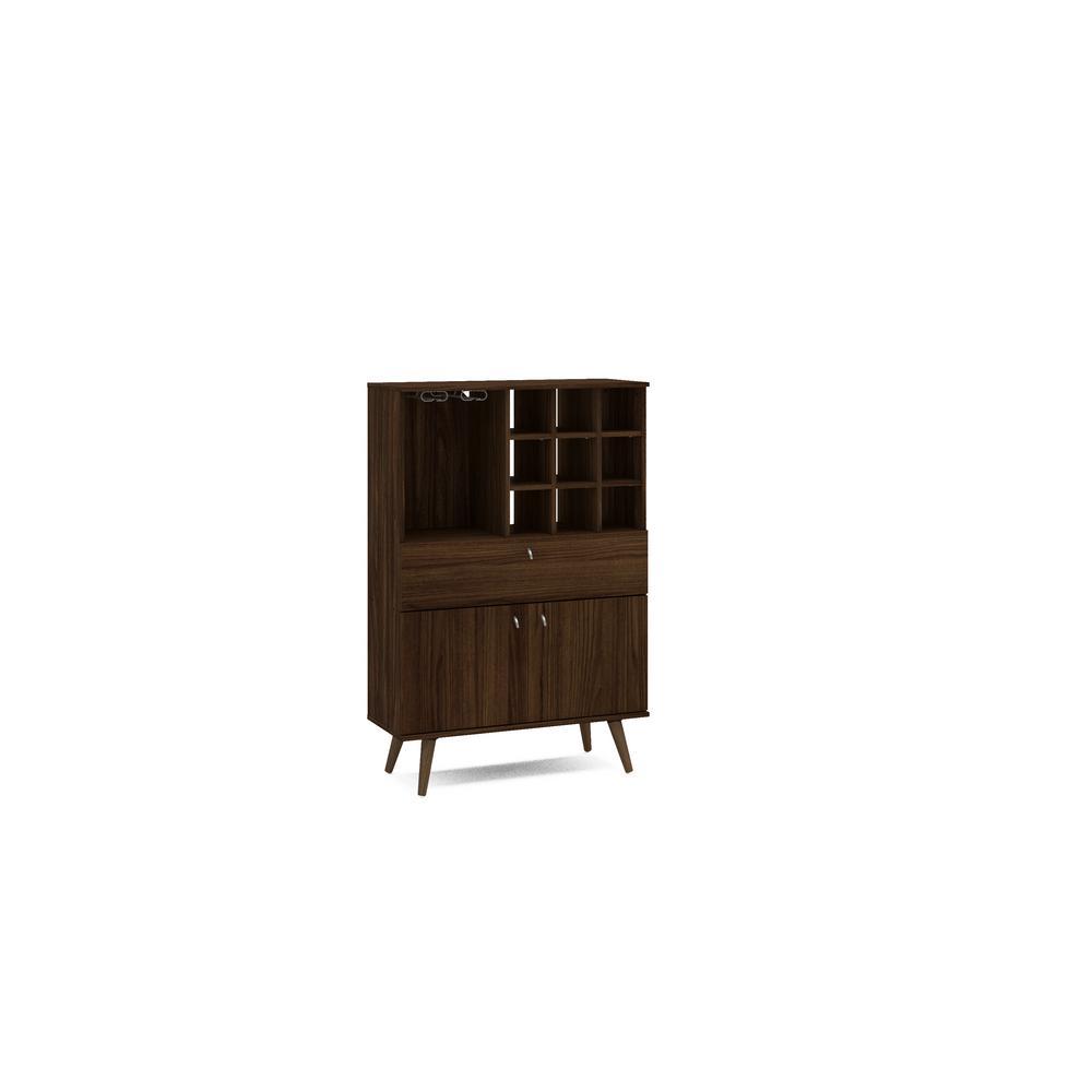 Napa 9-Bottle Dark Brown Bar Cabinet