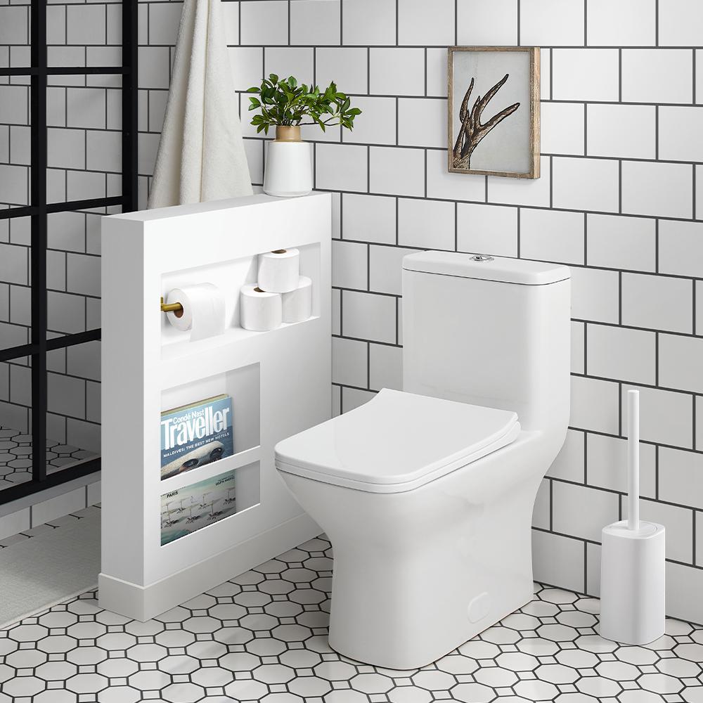 Swiss Madison Carre 1-Piece 0.8/1.28 GPF Dual Flush Square Toilet Deals