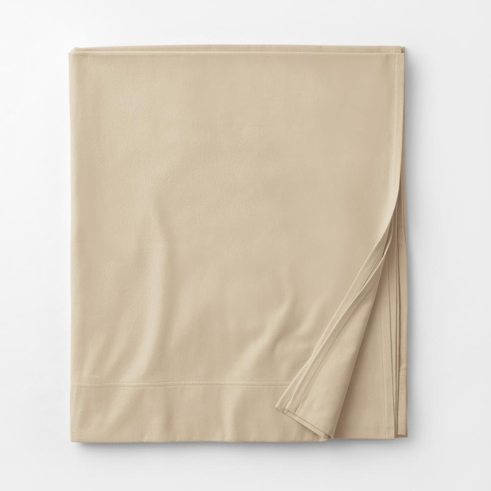 Legacy Velvet Flannel Alabaster Solid Queen Flat Sheet