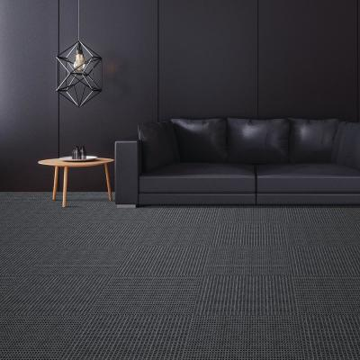 First Impressions Tattersall Ivory w/ Blk 24 in. x 24 in. Commercial Peel and Stick Carpet Tile (15-Tile / Case)