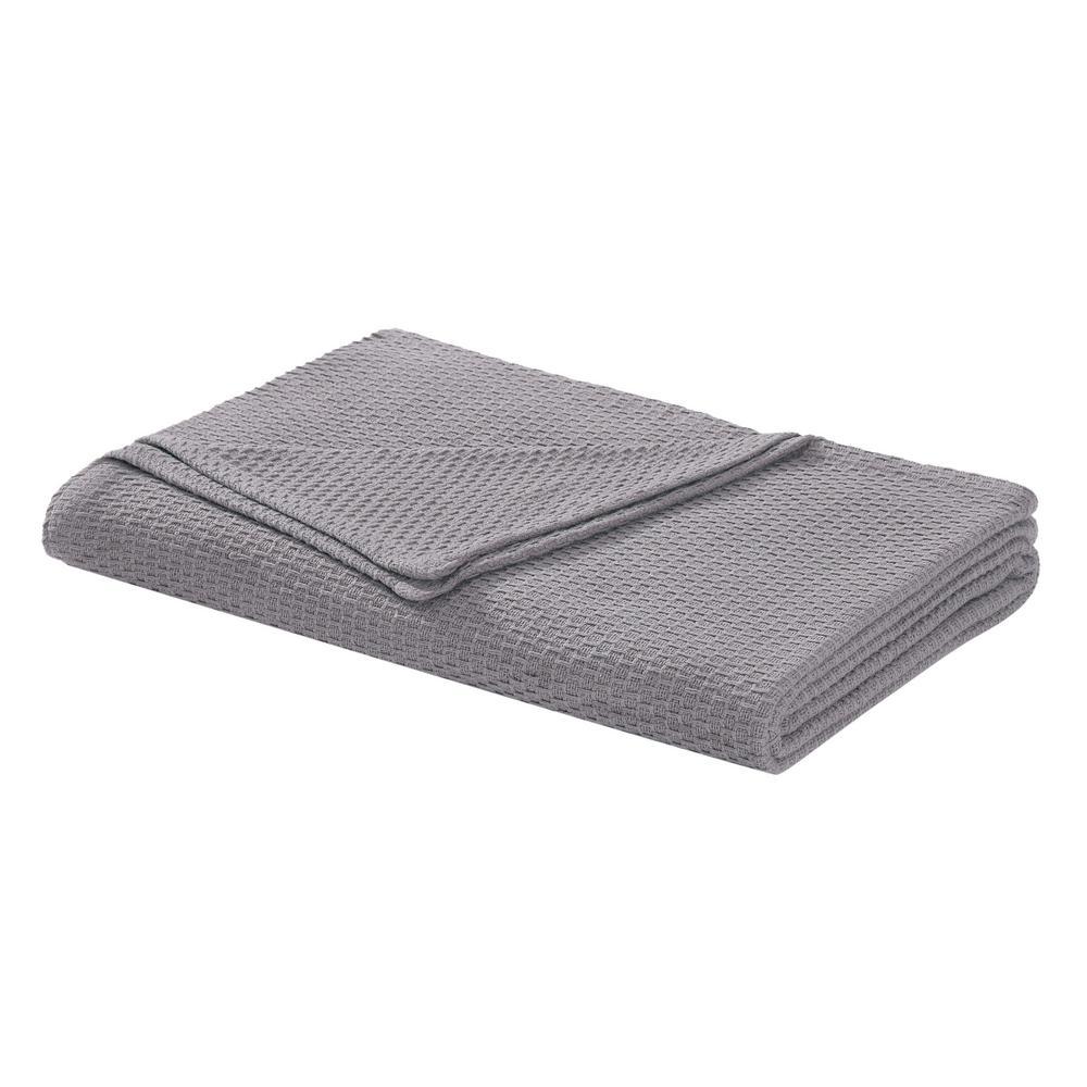 Cotton Dark Gray Twin Blanket