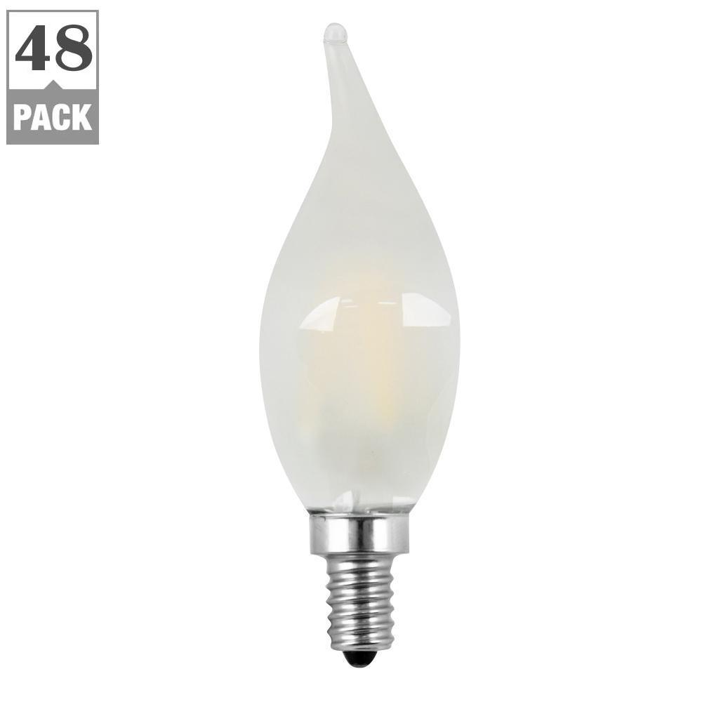 40W Equivalent Soft White (2700K) CA10 Dimmable Filament LED Candelabra Base