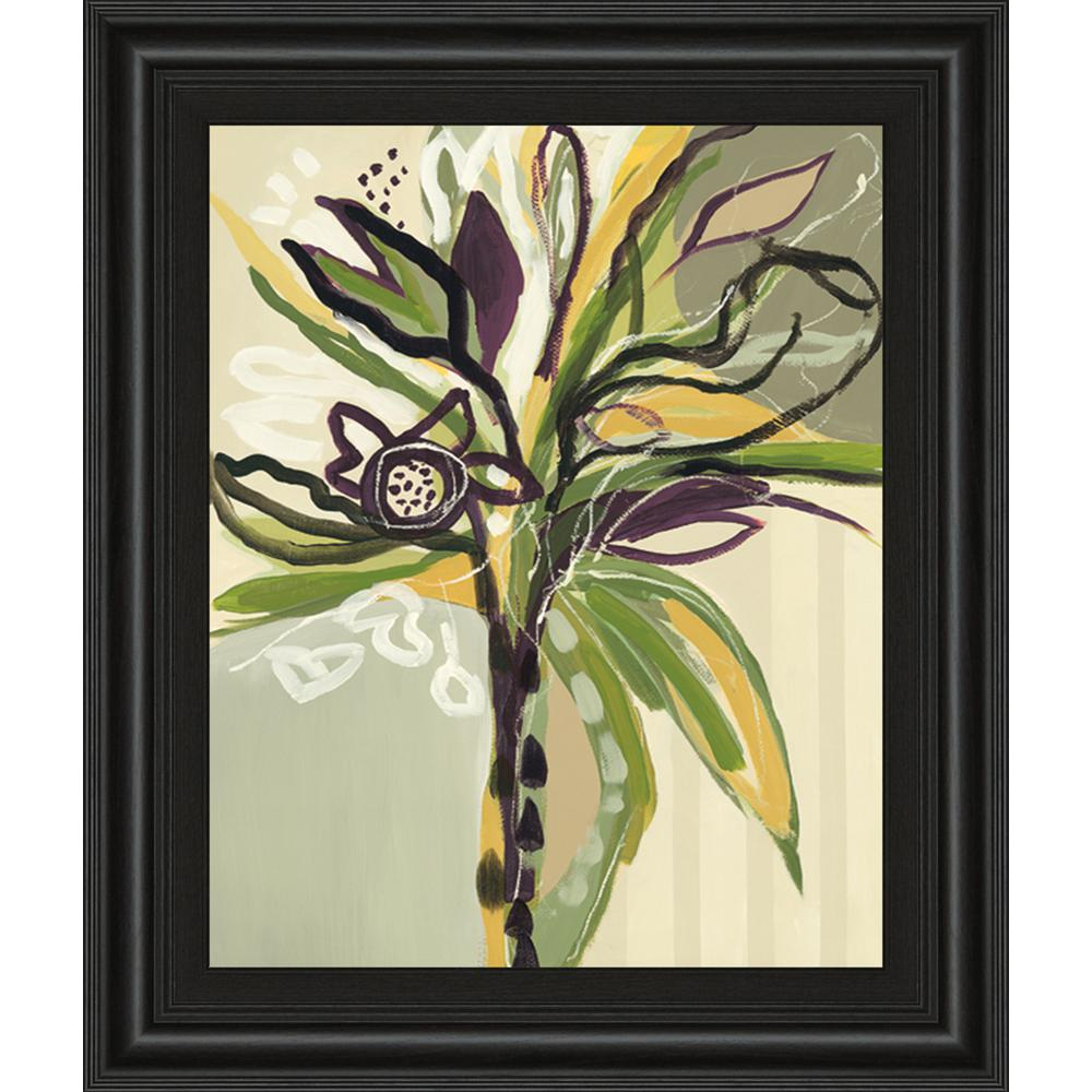 """22 in. x 26 in. """"Serene Floral I"""" by A. Maritz Framed Printed Wall Art"""