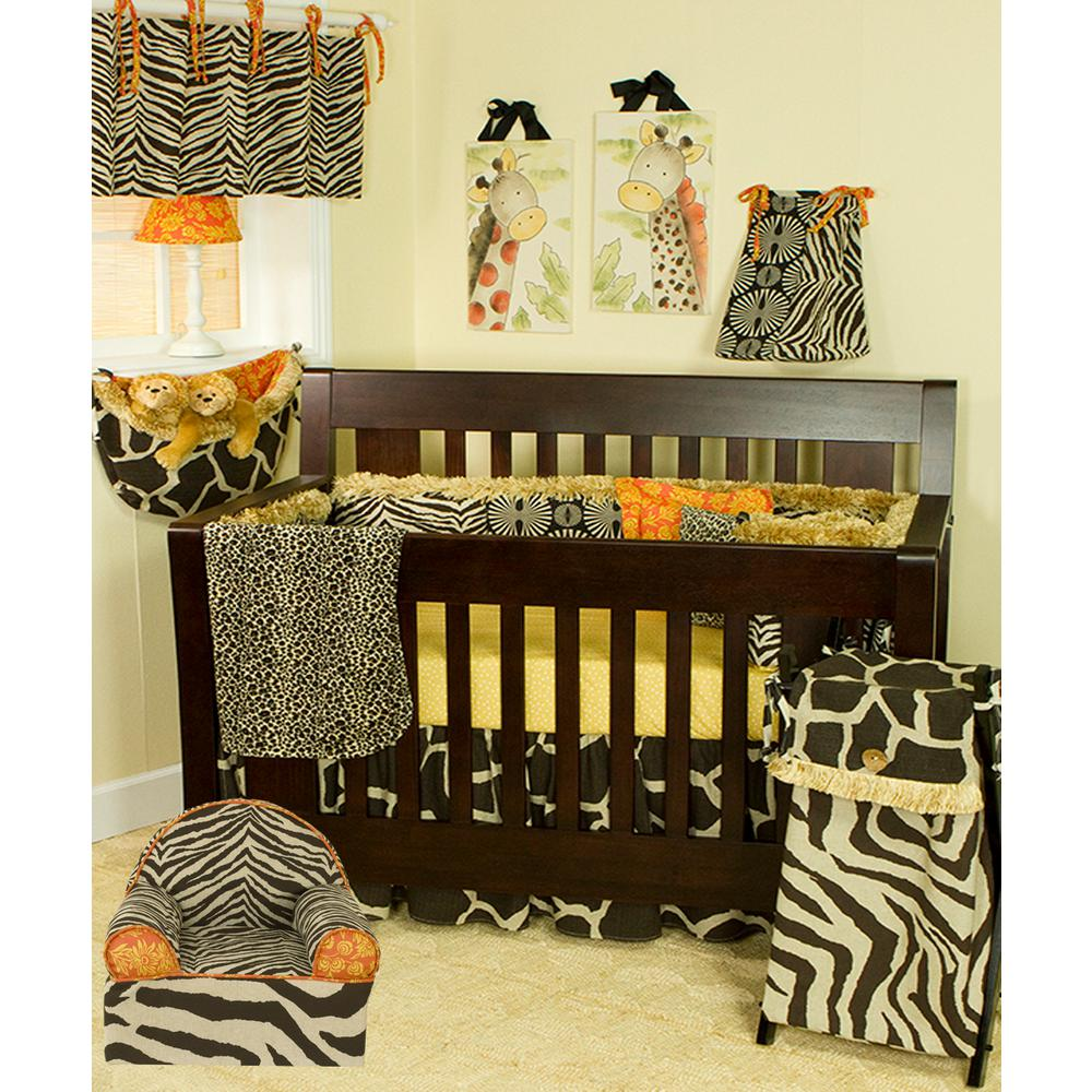 Cotton Tale Designs Sumba Brown Zebra Print And Floral Cotton Foam Kidu0027s  Chair