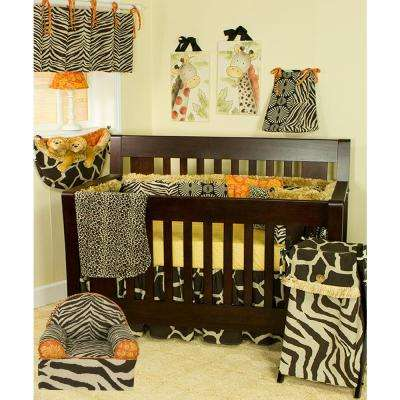 Sumba Brown Zebra Print and Floral Cotton Foam Kid's Chair