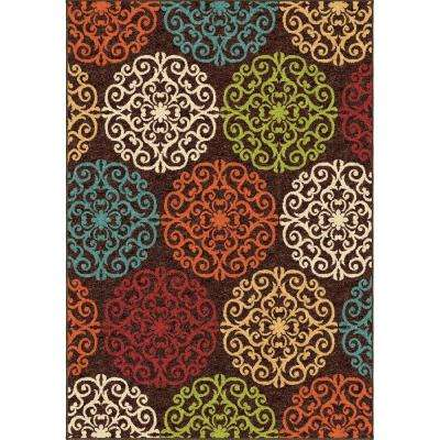 Panopitc Brown 5 ft. x 8 ft. Indoor Area Rug