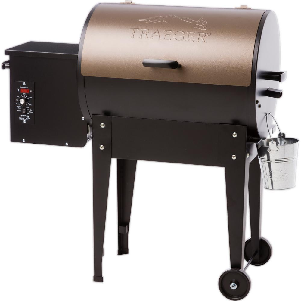 Junior Elite 20 Wood Fired Pellet Grill in Bronze
