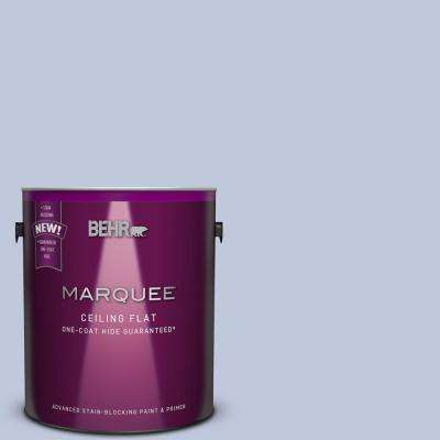 1 gal. #MQ3-62 Tinted to Dancing Mist One-Coat Hide Flat Interior Ceiling Paint and Primer in One