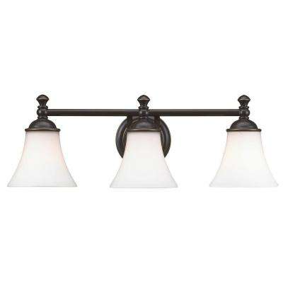 Crawley 3-Light Oil-Rubbed Bronze Vanity Light
