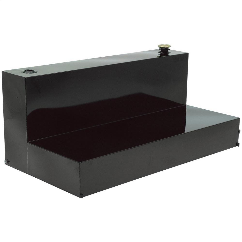100 Gal. Steel Liquid Storage Transfer Tank, Black