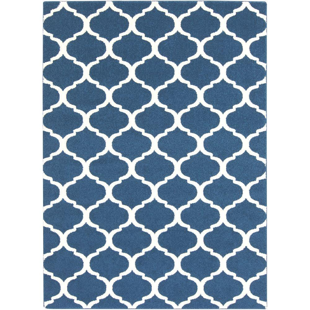 Rectangle Ikat Blue Area Rugs Rugs The Home Depot