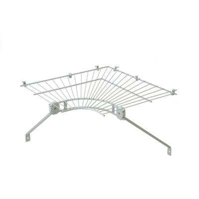 Ventilated Wire Corner Shelf for 16 in. Shelf and Rod Shelving