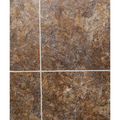 Hydri-Core 18 in. x 36 in. Crestaceous Fossil Grouted Embossed HDPC Vinyl Tile (18 sq. ft. / case)