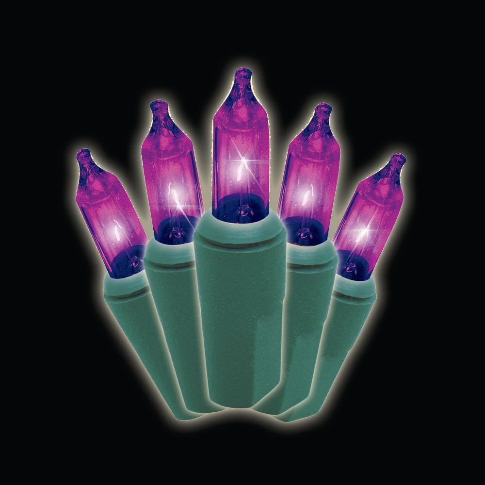 100-Light Purple Mini Light Set