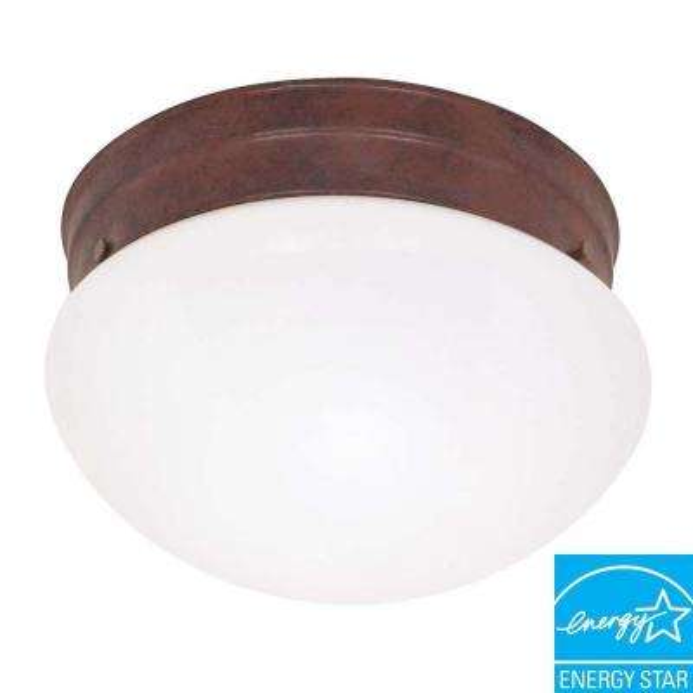 2-Light Old Bronze Ceiling Light Fixture