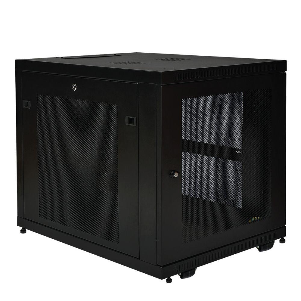 Tripp Lite 12U Rack Enclosure Server Cabinet Doors and Sides 300 lb. Capacity