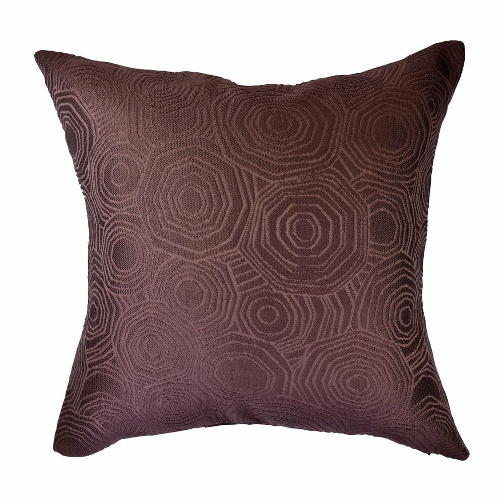 Purple Tiles Matelass Throw Pillow