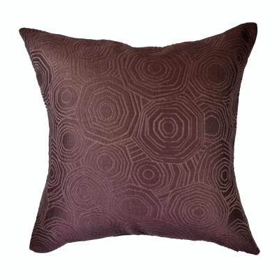 Tiles Purple Solid Cotton 20 in. x 20 in. Throw Pillow
