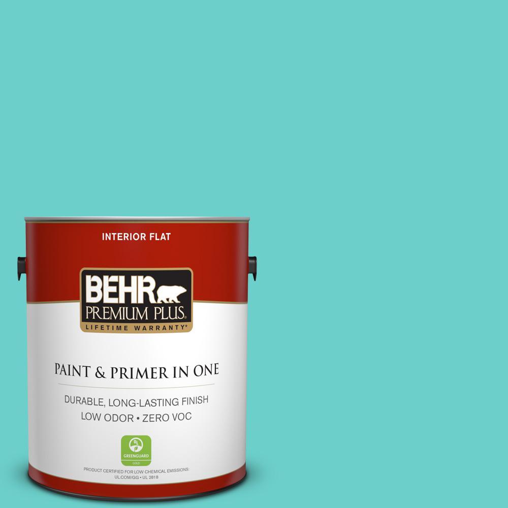 BEHR Premium Plus 1-gal. #P450-4 Hidden Sea Glass Flat Interior Paint