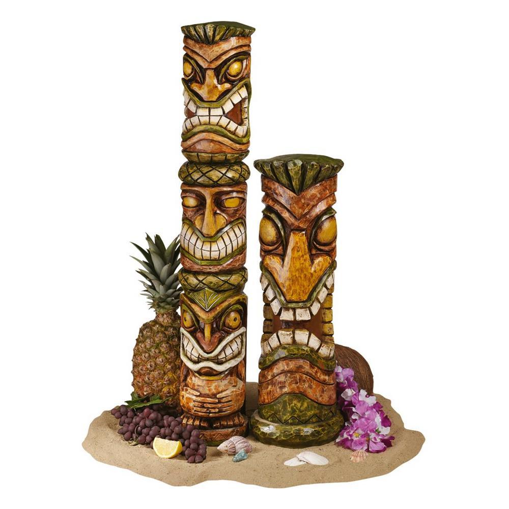Aloha Hawaii Tiki Sculpture Set (2-Piece)