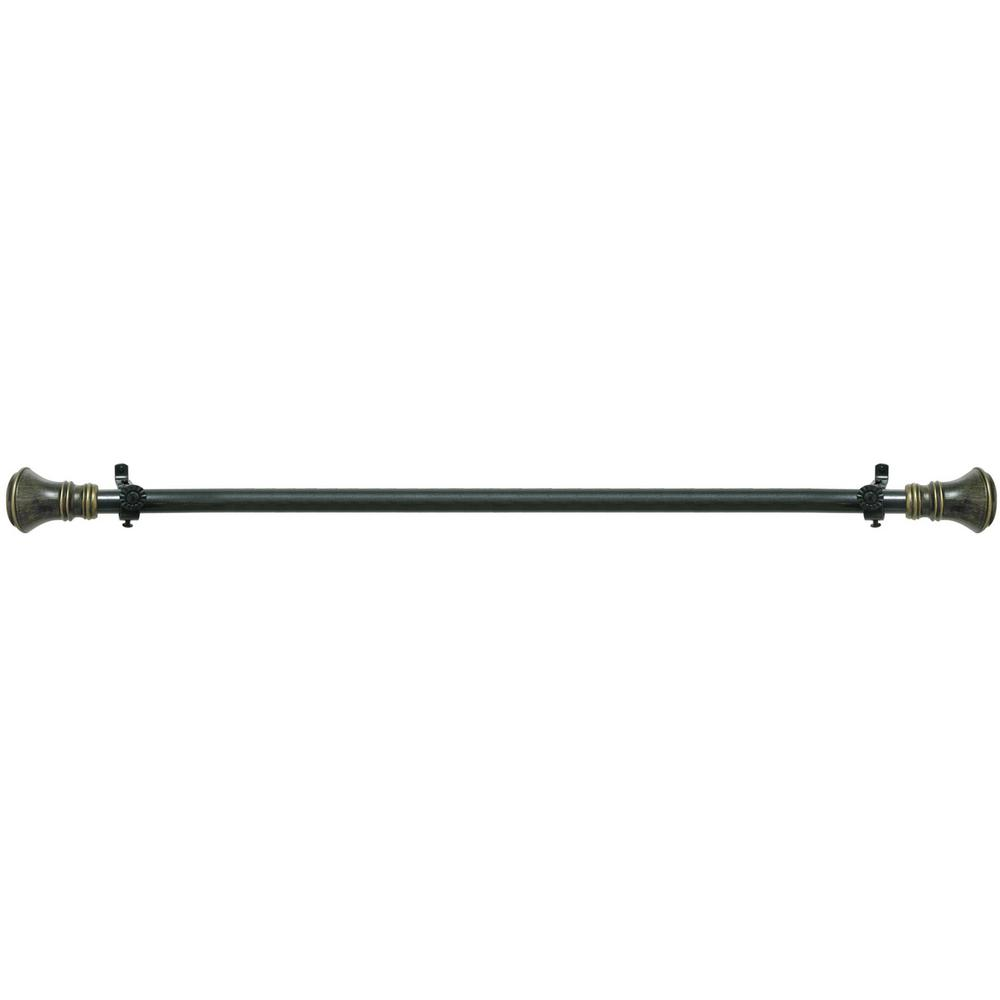 Buono II 48 in. to 86 in. Black Laya Decorative Rod
