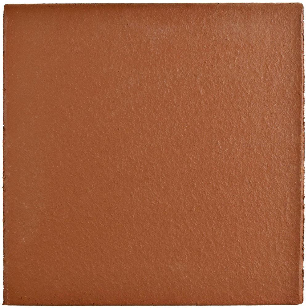 Merola Tile Klinker Red 5-7/8 in  x 5-7/8 in  Ceramic Bullnose Floor and  Wall Quarry Tile