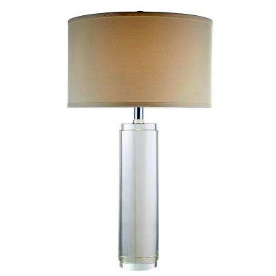 Regina 29 in. Chrome Table Lamp