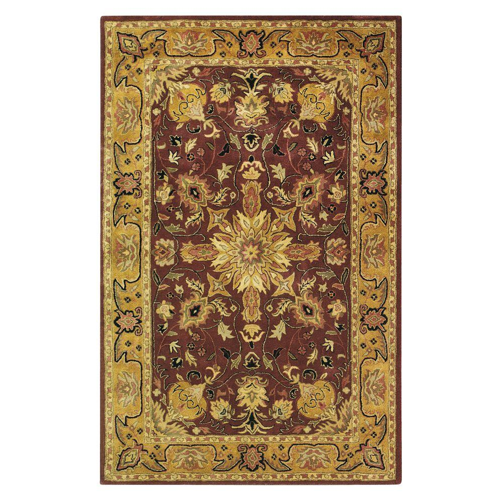 Home Decorators Collection Chamberlain Burgundy 8 ft. x 11 ft. Area Rug
