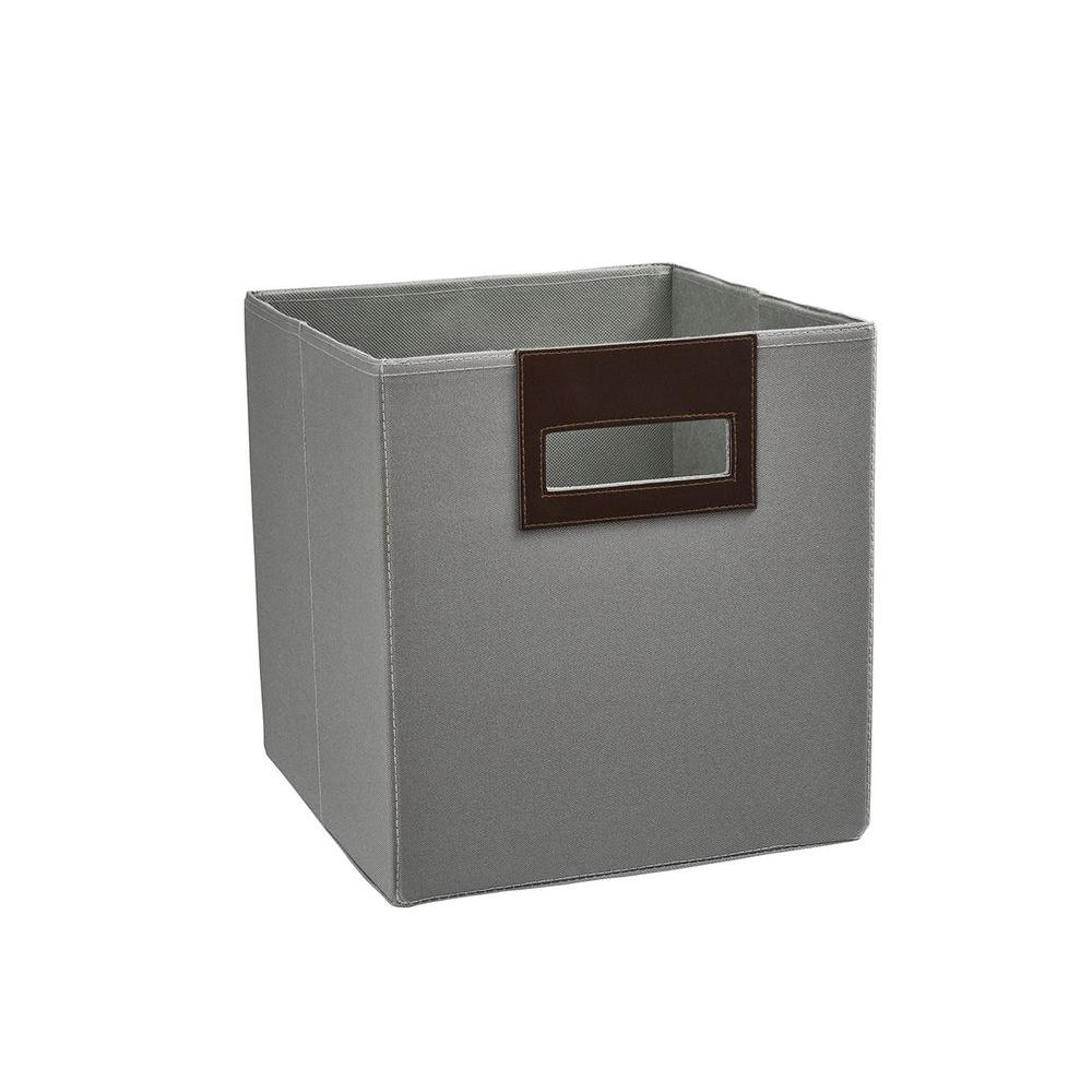 Ash Gray Polyester Storage Drawer  sc 1 st  Home Depot & Fabric - Bins u0026 Baskets - Cube Storage u0026 Accessories - The Home Depot
