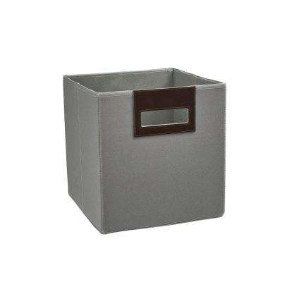 10.5 in. x 11 in. x 10.5 in. Ash Gray Polyester Storage Drawer