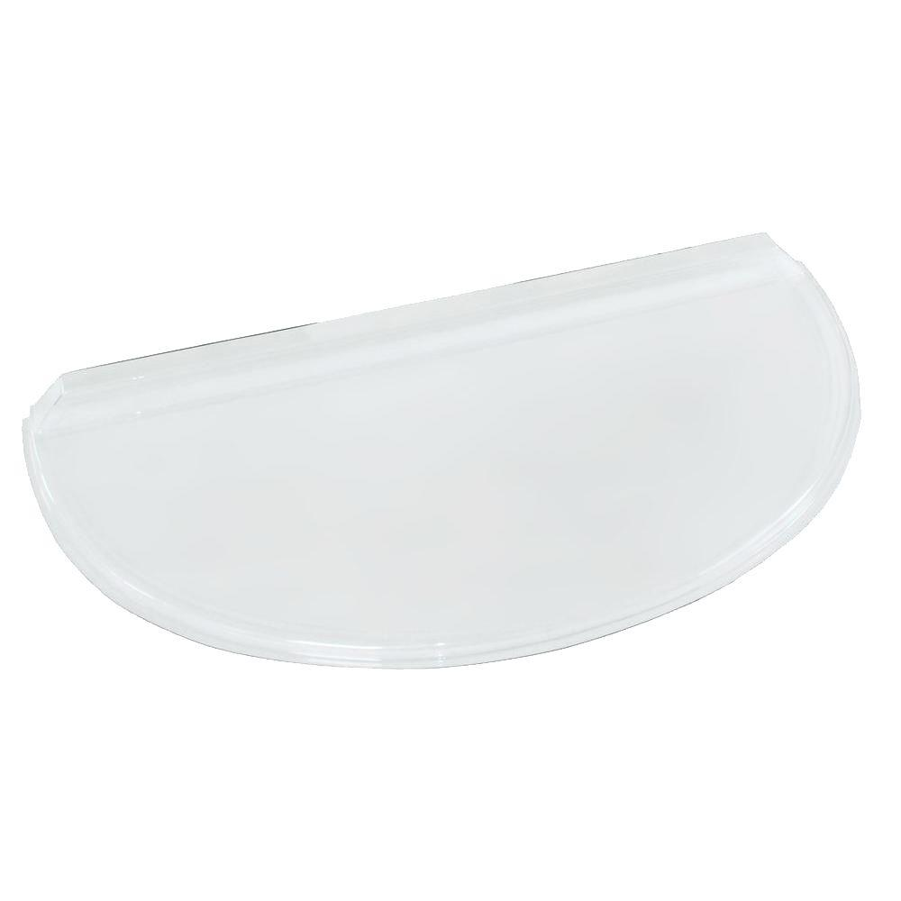 40 in. x 20 in. Polycarbonate Circular Window Well Cover