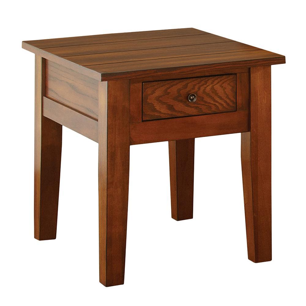 Terrific Desoto Red Oak End Table Short Links Chair Design For Home Short Linksinfo