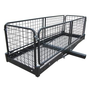 Hitch Mounted Mount Cargo Space Holder Holding Storage Cage Box Rack