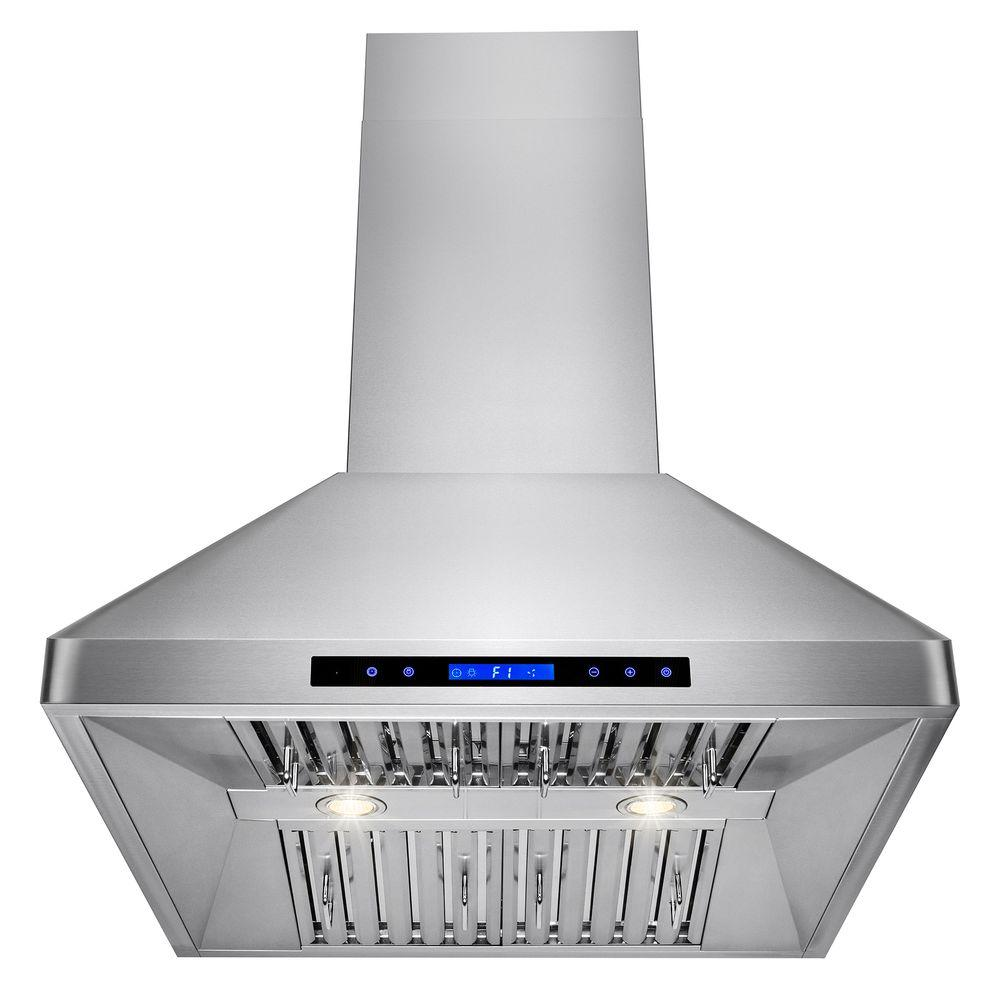 Whirlpool 30 In. Contemporary Wall Mount Range Hood In
