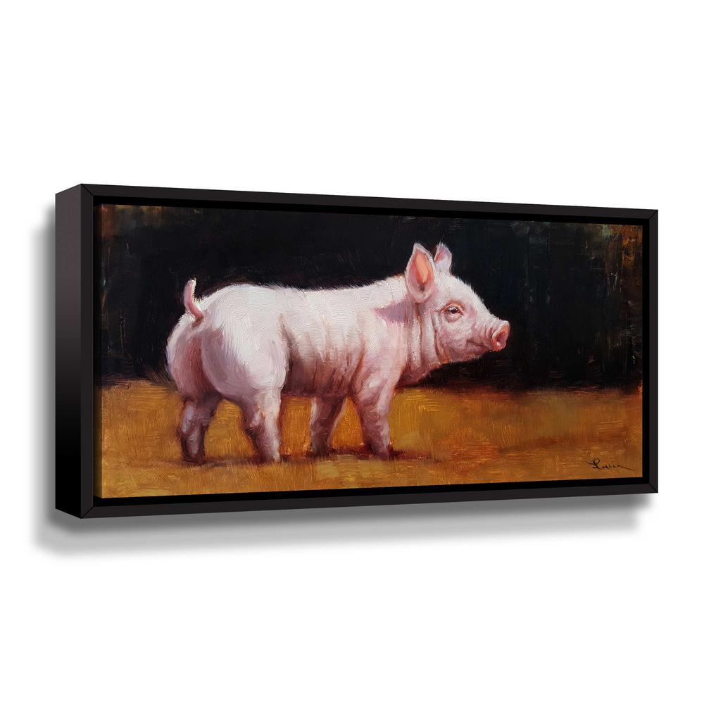 'Wilbur' by  Lucia Heffernan Framed Canvas Wall Art