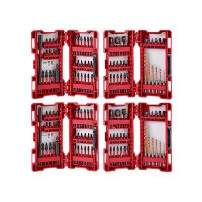 SHOCKWAVE High Speed Steel Impact Duty Drill and Drive Bit Set (120-Piece)
