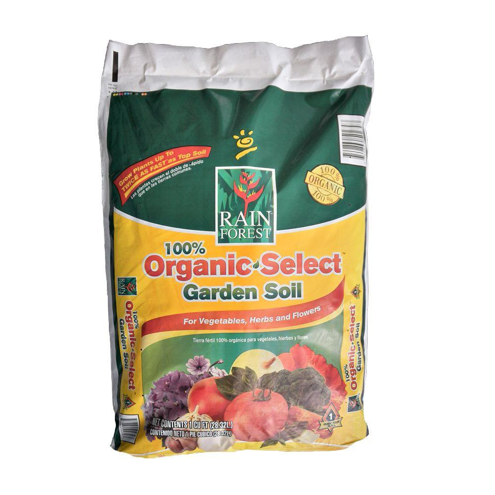 Rain forest 1 cu ft 100 organic garden soil rfos1 the for Organic top soil