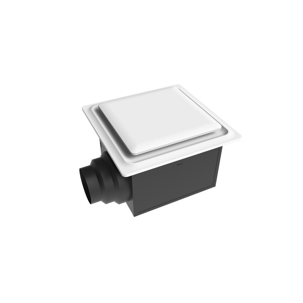Aero Pure Low Profile 110 CFM Quiet Ceiling Bathroom Ventilation Fan 0.9 Sones, White