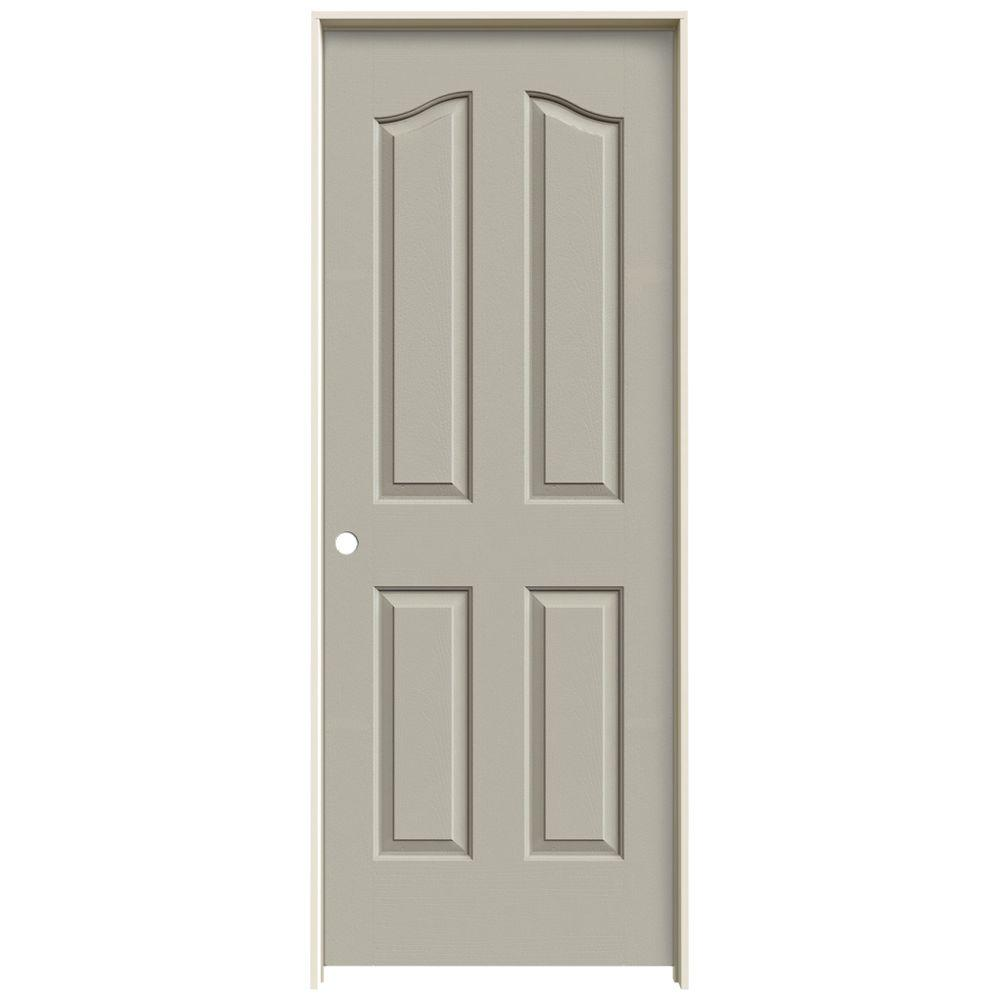 JELD-WEN 24 in. x 80 in. Provincial Desert Sand Painted Right-Hand Smooth Molded Composite MDF Single Prehung Interior Door