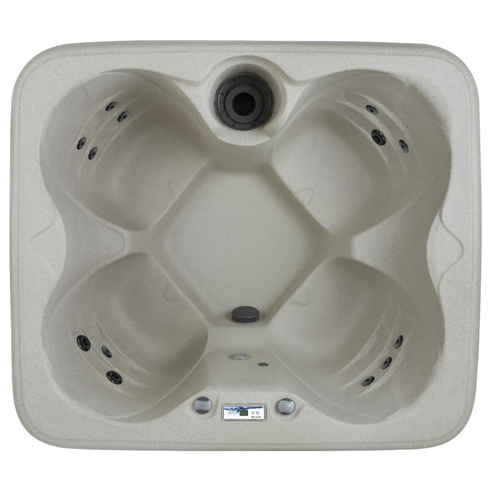 Lifesmart Bermuda Rock Solid Series 4-Person 12-Jet Plug and Play Spa Includes Free Delivery