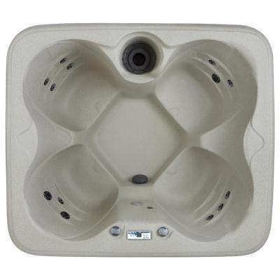Bermuda Rock Solid Series 4-Person 12-Jet Plug and Play Spa Includes Free Delivery