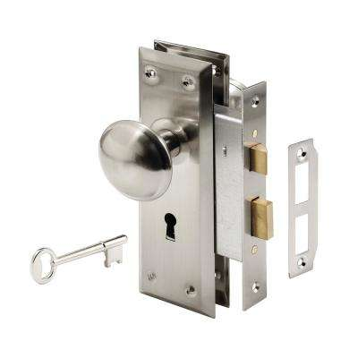 Steel, Satin Nickel, Interior Door Lock