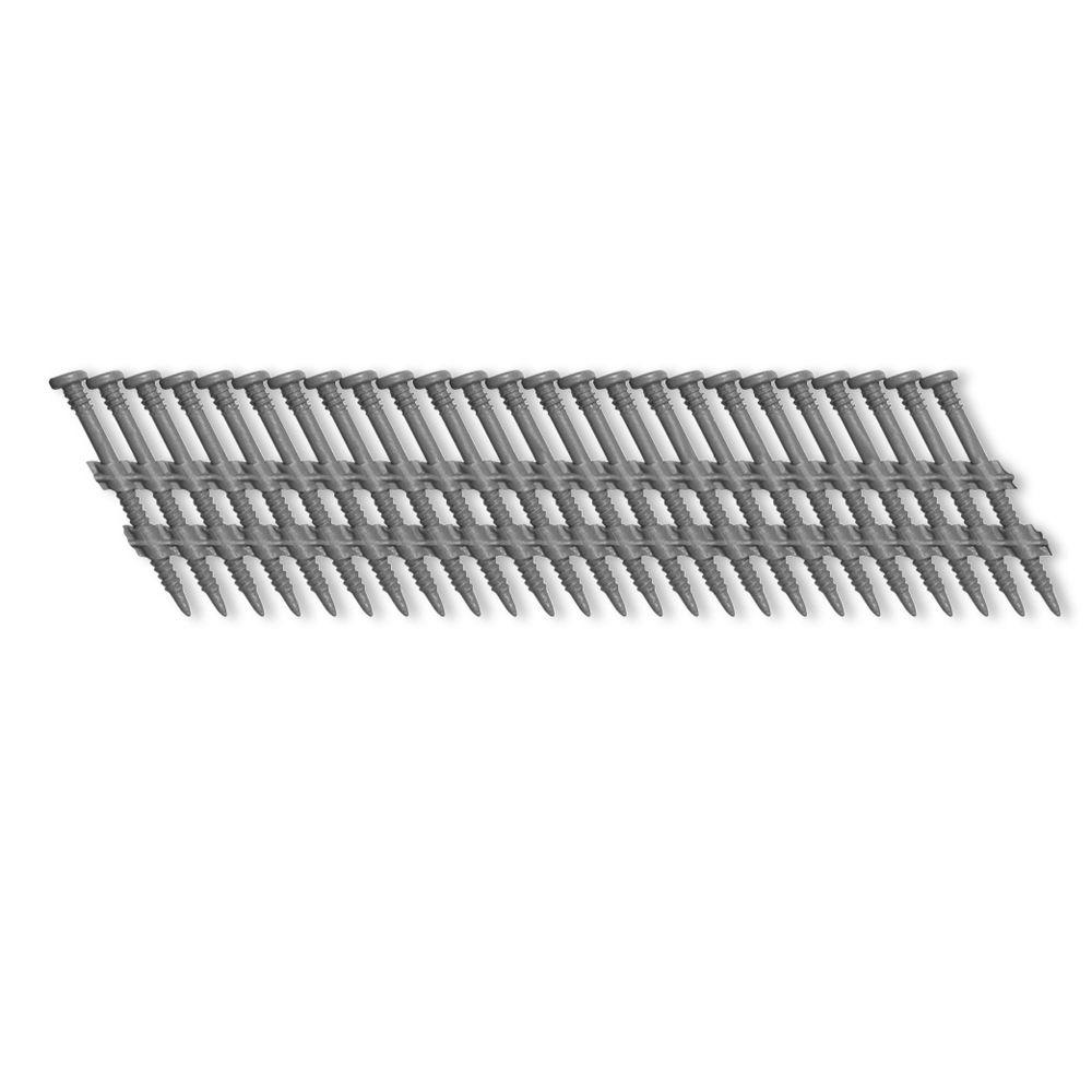 Scrail 3 in. x 1/8 in. 20-Degree Plastic Strip Square Head Nail Screw Fastener (1,000-Pack)