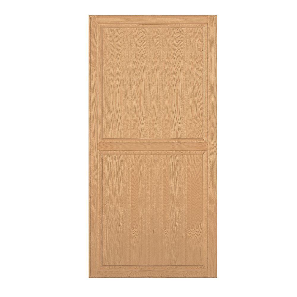 Solid Oak Double End Side Panel for 21 in. D Executive Wood Locker in Light Oak